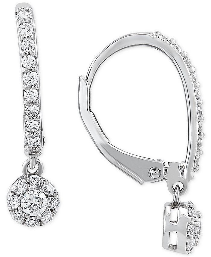 Forever Grown Diamonds - Lab-Created Diamond Dangle Drop Earrings (1/2 ct. t.w.) in Sterling Silver