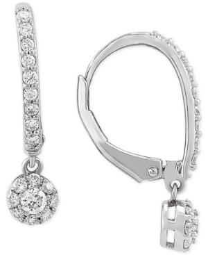 Lab Created Diamond Dangle Drop Earrings (1/2 ct. t.w.) in Sterling Silver