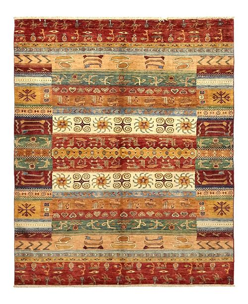 """Timeless Rug Designs CLOSEOUT! One of a Kind OOAK1130 Caramel 6'1"""" x 7'10"""" Area Rug"""