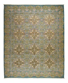 """One of a Kind OOAK2348 Teal 9'2"""" x 11'2"""" Area Rug"""