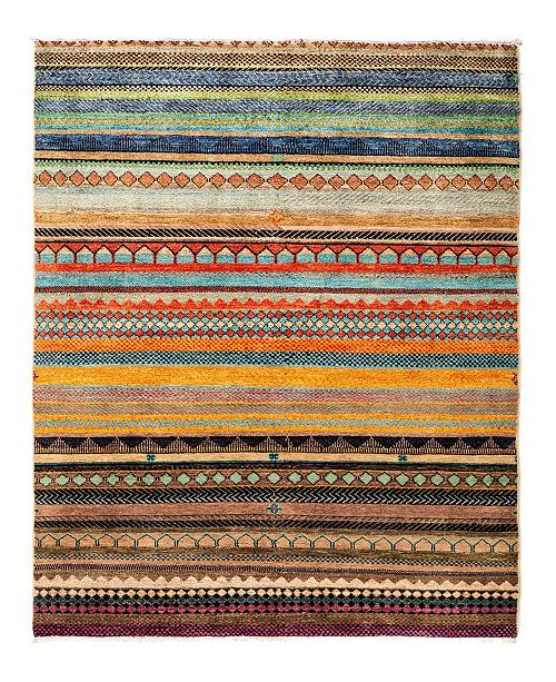 "Timeless Rug Designs CLOSEOUT! One of a Kind OOAK2825 Caramel 4'2"" x 6'1"" Area Rug"