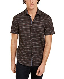 Men's Slim-Fit Houndstooth Shirt