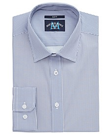 of London Men's Slim-Fit Performance Stretch Gingham Dress Shirt