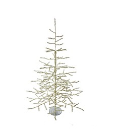 36-inch Sterling Silver Coral Tree