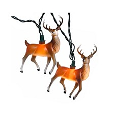 10-Light 4.5-Inch Plastic Reindeer Light Set