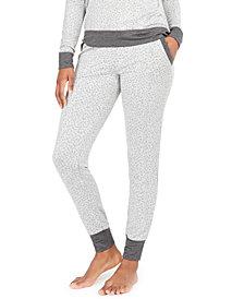 Alfani Women's Animal-Print Jogger Pajama Pants, Created for Macy's