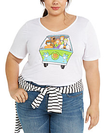 Modern Lux Trendy Plus Size Scooby Doo Mystery Van Graphic T-Shirt