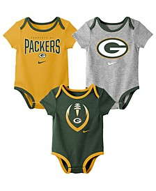 Baby Green Bay Packers Icon 3 Pack Bodysuit Set