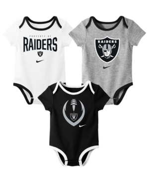 Nike Baby Oakland Raiders Icon 3 Pack Bodysuit Set