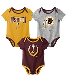 Baby Washington Redskins Icon 3 Pack Bodysuit Set