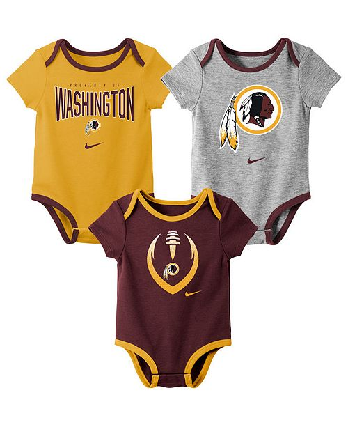 Nike Baby Washington Redskins Icon 3 Pack Bodysuit Set