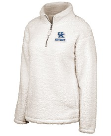 Women's Kentucky Wildcats Sherpa Quarter-Zip Pullover