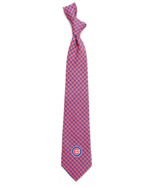 Chicago Cubs Poly Gingham Tie