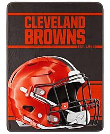 Cleveland Browns Micro Raschel Run Blanket