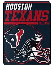 Northwest Company Houston Texans Micro Raschel 40 Yard Dash Blanket