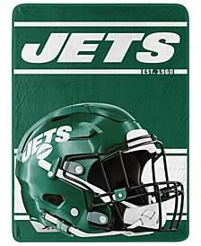 New York Jets Micro Raschel Run Blanket