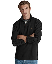 Men's Estate-Rib Cotton Quarter-Zip Pullover