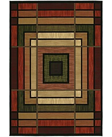 """Contours Ambience 510 25029 35C Terracotta 2'7"""" x 4'2"""" Area Rug"""