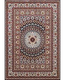 "Antiquities Jaipur 1900 01639 58 Burgundy 5'3"" x 7'2"" Area Rug"