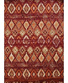 "Bridges San Paula 3001 00536 1215 Crimson 12'6"" x 15' Area Rug"