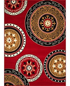 "Cafe Cozy 950 11030 28 Red 1'11"" x 7'2"" Runner Rug"