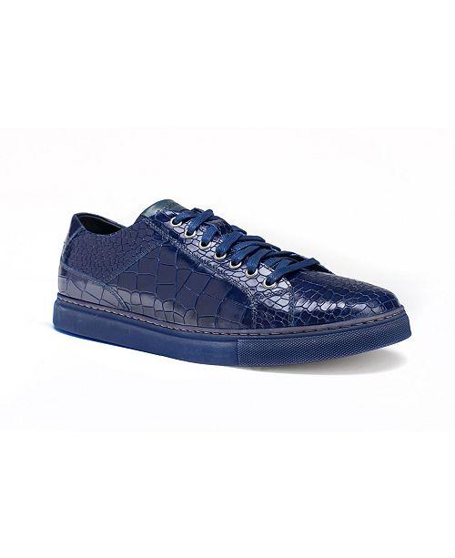 Men's Bernardo II Alligator Print Sneaker
