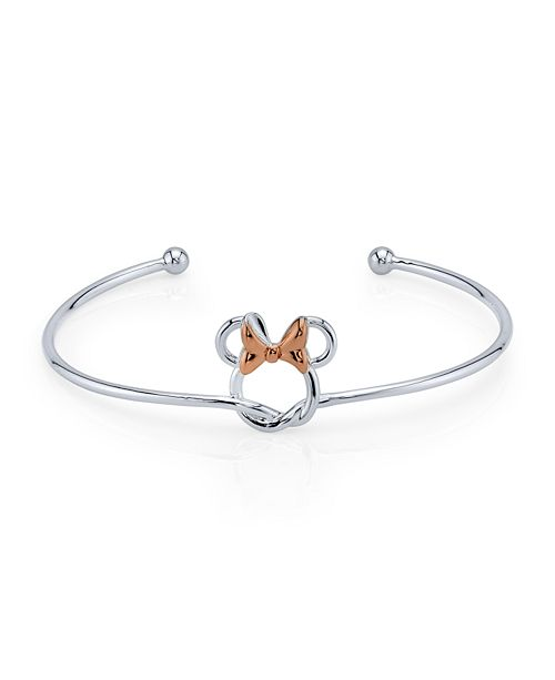 Disney Minnie Mouse Bow Cuff in Two Tone Fine Plated Silver for Unwritten