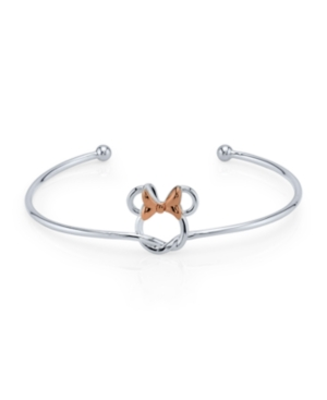Minnie Mouse Bow Cuff in Two Tone Fine Plated Silver for Unwritten