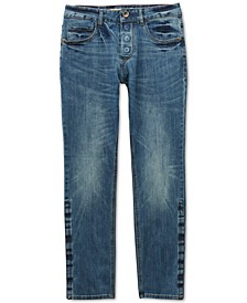 Men's Belmore Slim Straight-Fit Power Stretch Jeans with Magnetic Fly and Stay-Put Closure