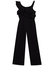 Big Girls One-Shoulder Ruffled Jumpsuit