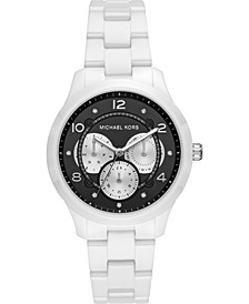 Women's Runway White Ceramic Bracelet Watch 38mm