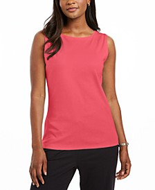 Cotton Boat-Neck Tank Top, Created for Macy's