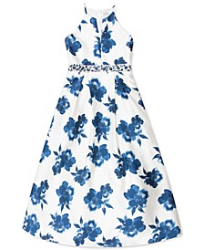 Big Girls Floral-Print Maxi Dress