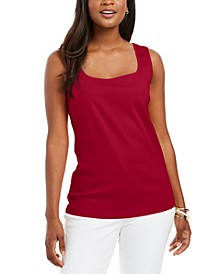 Square-Neck Cotton Tank Top, Created for Macy's