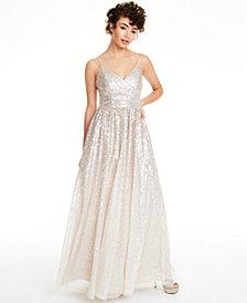 Eliza J Ombré Sequined Gown
