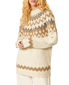 Leena Fair-Isle Mock-Neck Sweater