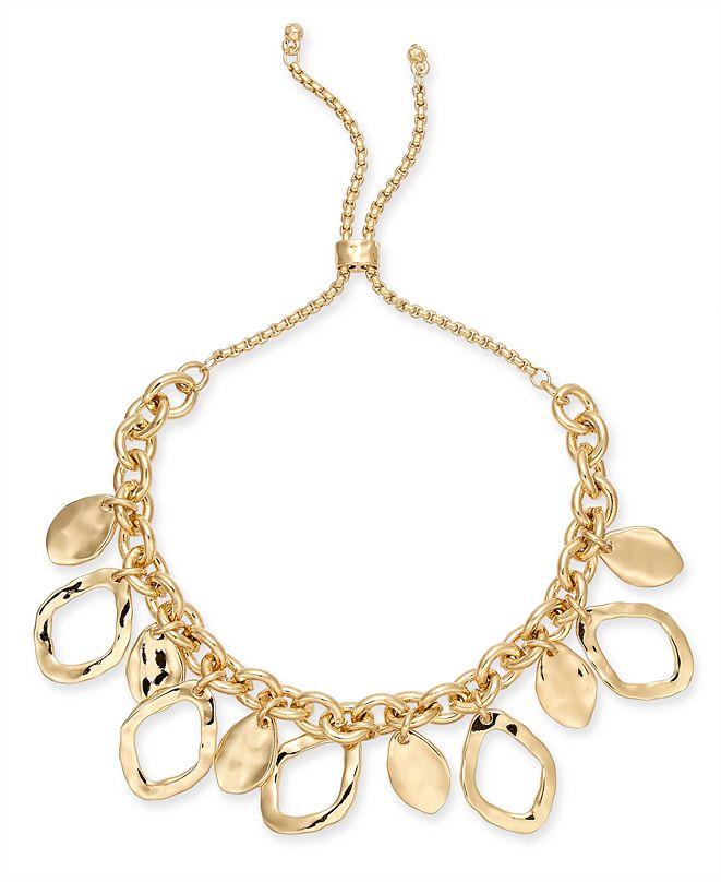 Style & Co Gold-Tone Shaky Slider Bracelet, Created for Macy's