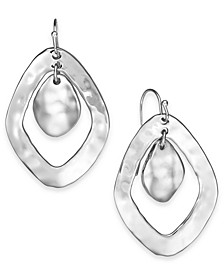 Double-Diamond Hammered Drop Earrings, Created for Macy's