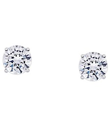 Cubic Zirconia Round Stud Earrings in Fine Silver Plate, 1-4/5 ct. t.w.