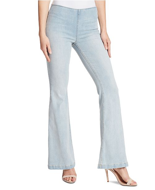 Ella Moss Pull-On Flare-Leg Jeans