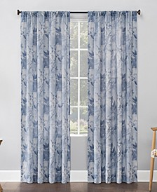 Hilary Floral Semi-Sheer Curtain Panel Collection