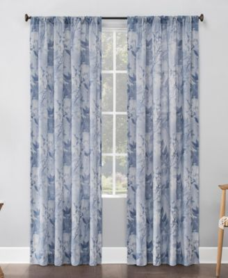 "No. 918 Hilary Floral 54"" x 84"" Semi-Sheer Curtain Panel"