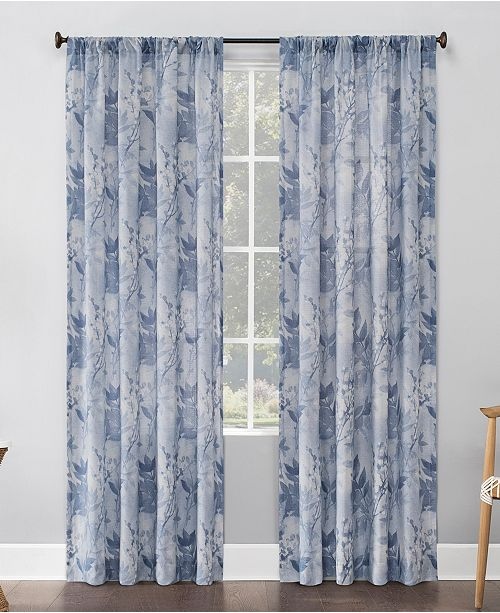 "Lichtenberg No. 918 Hilary Floral 54"" x 84"" Semi-Sheer Curtain Panel"