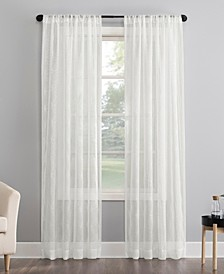 """Tamaryn Embroidered 50"""" x 63"""" Sheer Curtain Panel"""