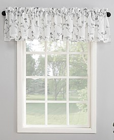"50"" x 17"" Delia Embroidered Floral Sheer Curtain Valance"