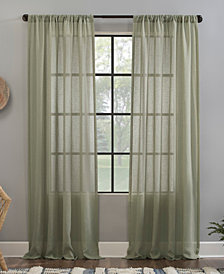 """Crushed Texture 52"""" x 84"""" Anti-Dust Sheer Curtain Panel"""