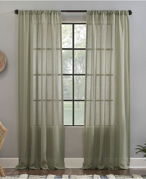 """Clean Window Crushed Texture 52"""" x 84"""" Anti-Dust Sheer Curtain Panel"""