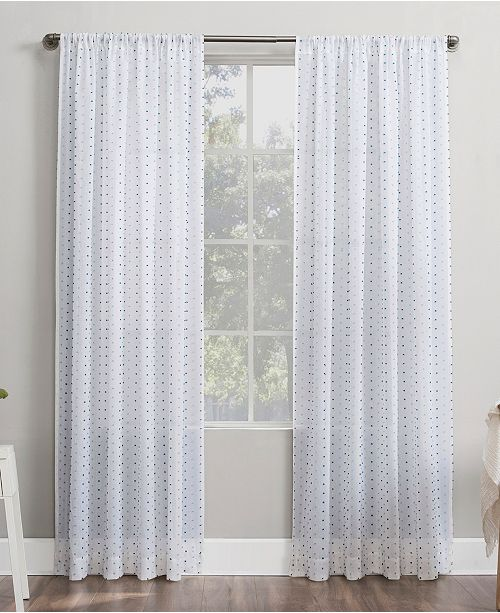 "Lichtenberg No. 918 Petani Swiss Dot 52"" x 63"" Semi-Sheer Curtain Panel"