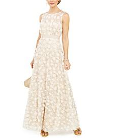 Embellished Floral Gown