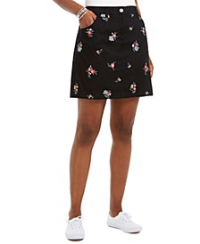 Petite Floral-Embroidered Skort, Created For Macy's